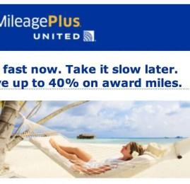 MileagePlus da United oferece até 40% de desconto na compra de milhas