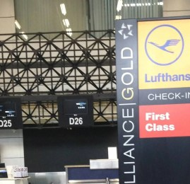 Check-in Primeira Classe Lufthansa