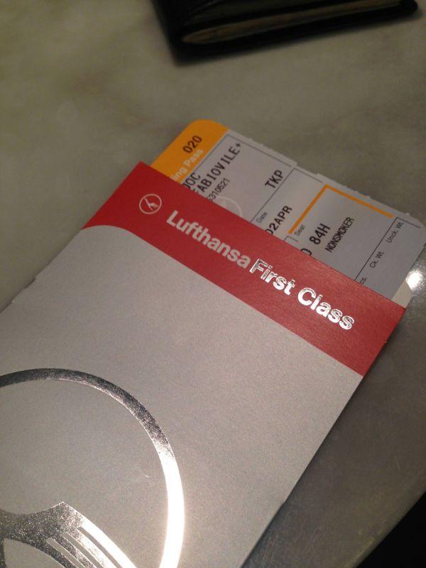 Lufthansa Check in Primeira Classe