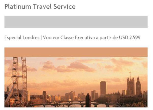 platinum travel service amex london