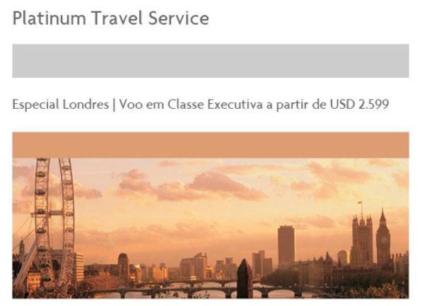 platinum travel service amex london