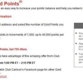 Promoção relâmpago: Club Carlson oferece 75% a mais de bonus na compra de pontos pelos próximos 75 minutos