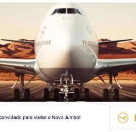 Passageiro de Primeira presente na chegada do Boeing 747-800 da Lufthansa no Brasil