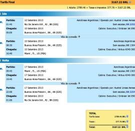 Aerolineas Argentinas tem passagens para Miami por R$3.170 em classe Executiva