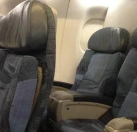 Classe Executiva da Air Canada no Embraer E175