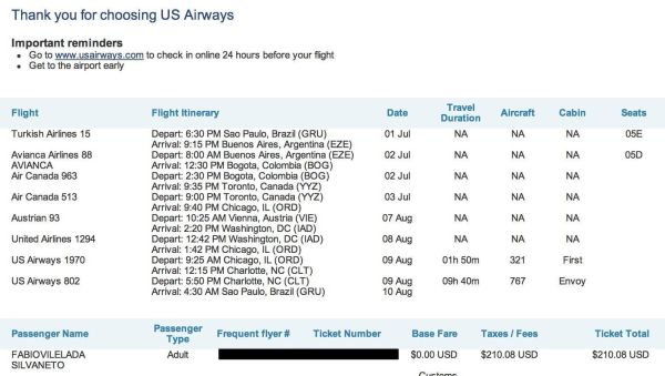 us airways booking