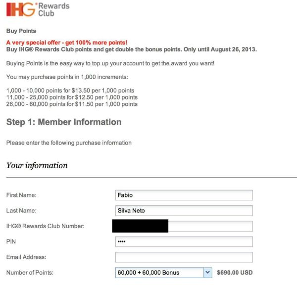 ihg rewards compra