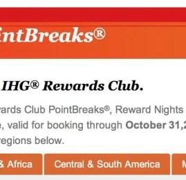 Promoção PointBreaks® IHG Rewards: lista de hotéis com diárias por apenas 5.000 pontos