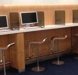 Sala VIP Lufthansa Senator Lounge no Aeroporto de Frankfurt