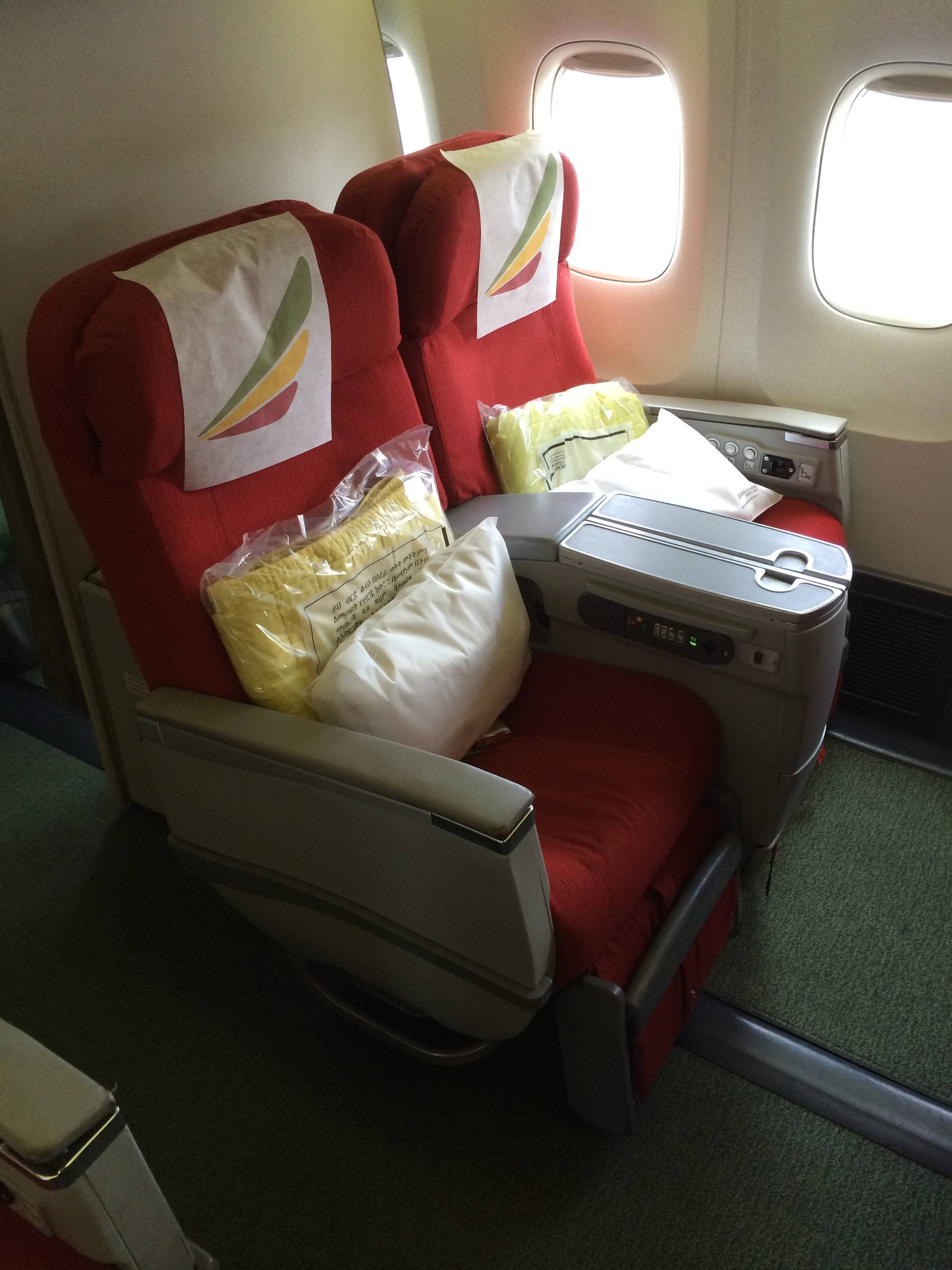 Ethiopian Airlines Business Class Executiva B767 - passageirodeprimeira