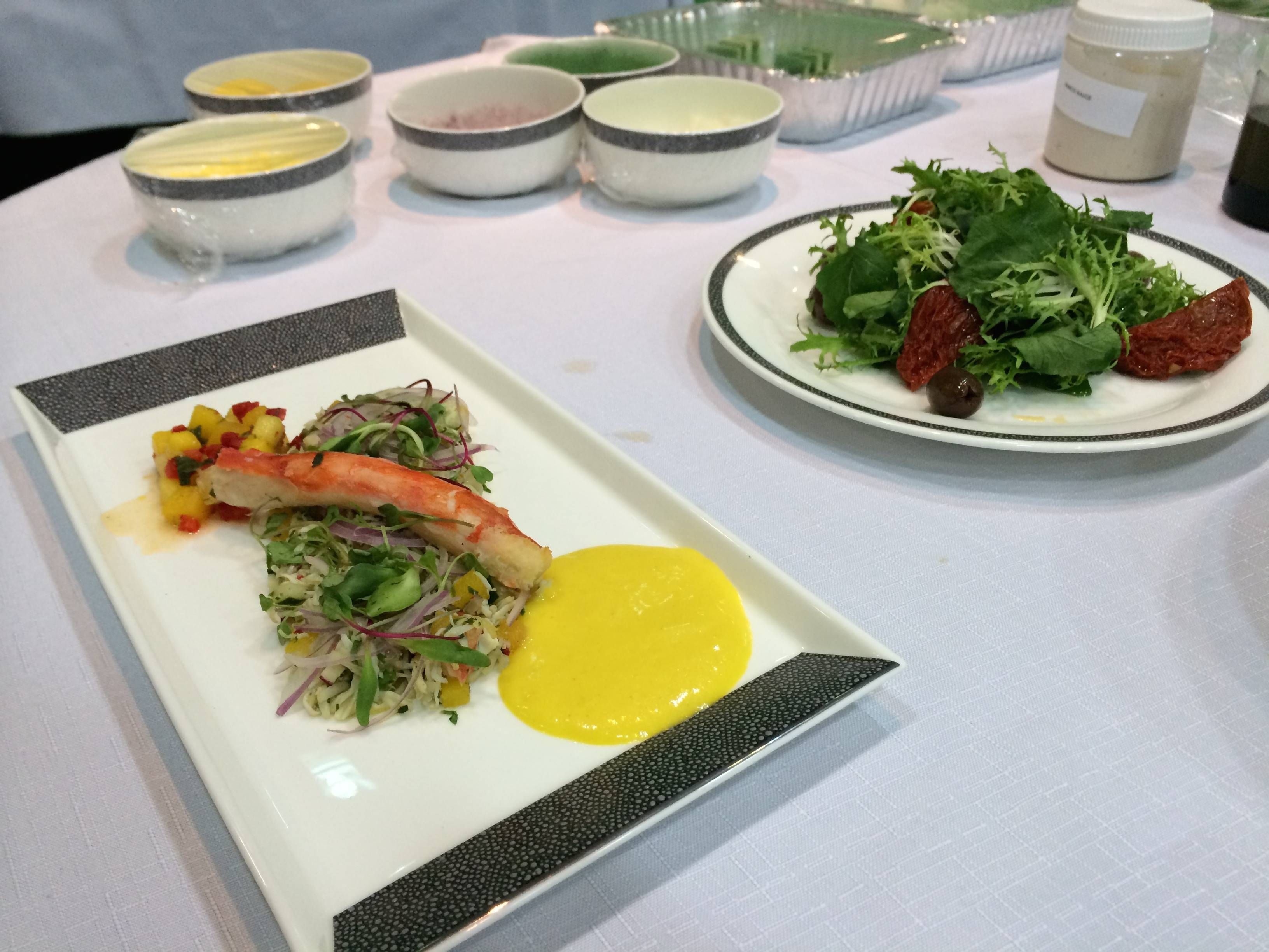 singapore menu presentation primeira classe degustacao passageirodeprimeira