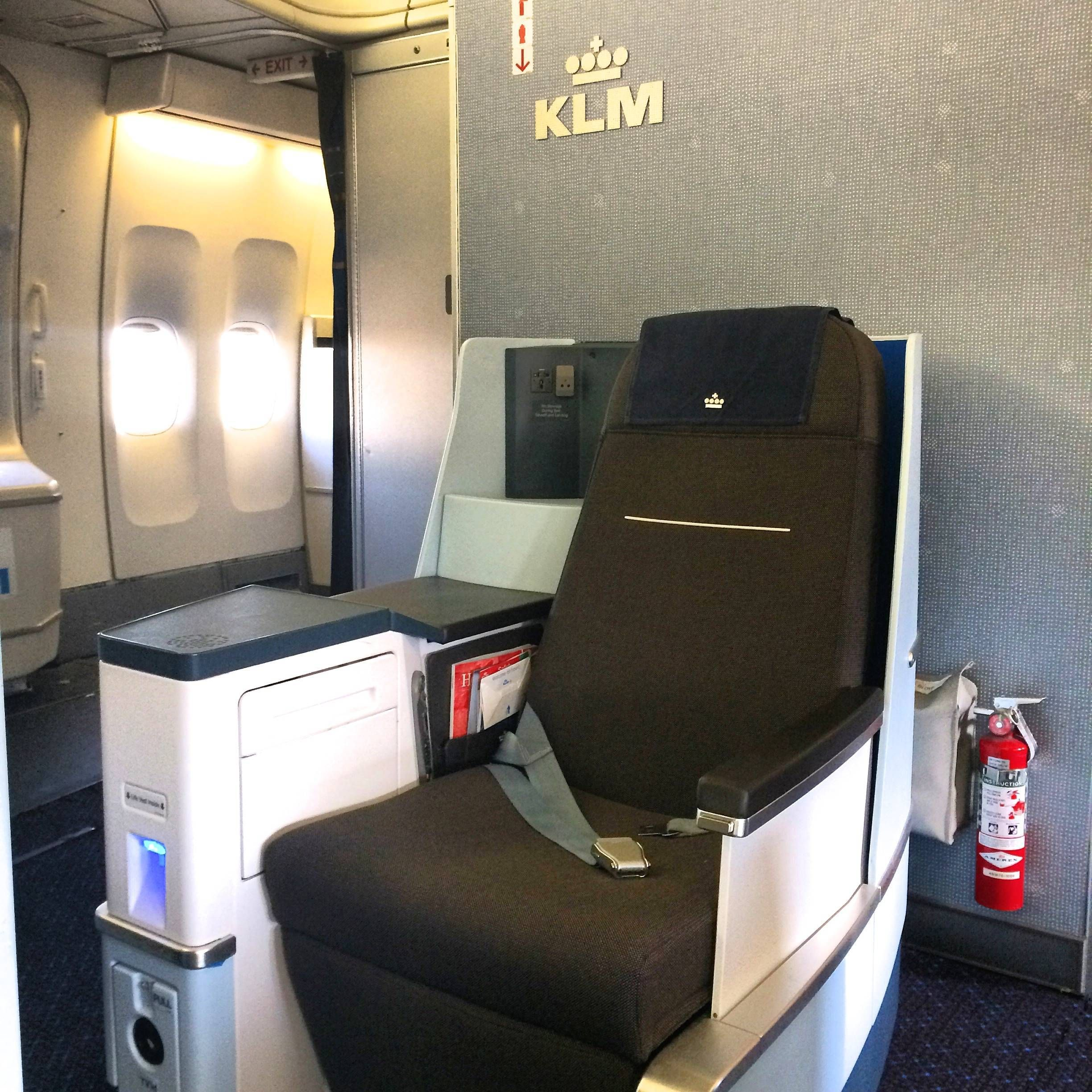 KLM b747 new business class nova classe executiva