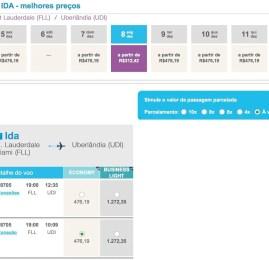 Azul tem passagens dos EUA para o Brasil por R$1.200 em classe executiva