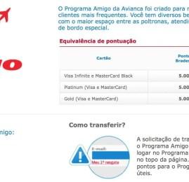 Programa Amigo da Avianca oferece upgrade de categoria para quem transferir pontos do Bradesco Prime