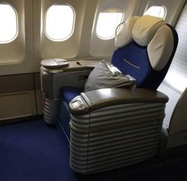 Primeira Classe da Lufthansa no A340