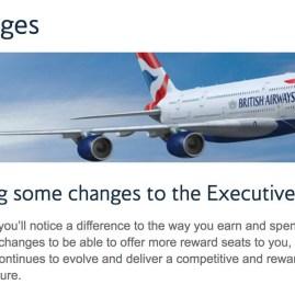 Programa Executive Club da British Airways anuncia mudanças na tabela de resgate