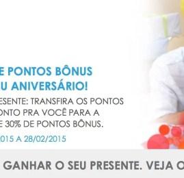Clientes do Banco do Brasil aniversariantes do mês de Fevereiro ganham 30% de bônus na transferência de pontos para o Multiplus Fidelidade