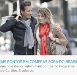 Bradesco lança promoção onde compras no exterior valem mais pontos nos cartões Infinite e Mastercard Black