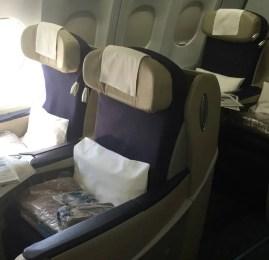 Classe executiva da Aerolineas Argentinas no A330