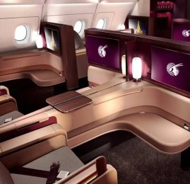 Viaje na Primeira Classe da Qatar do A380 por R$700