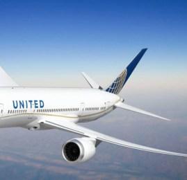 United Airlines vai usar o B787-9 na rota para o Rio de Janeiro