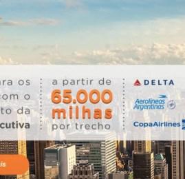 Passagens para os EUA por 65.000 milhas Smiles na classe executiva