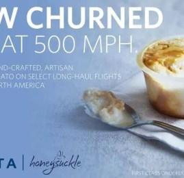 Delta agora oferece o sorvete Honeysuckle a bordo em vôos selecionados