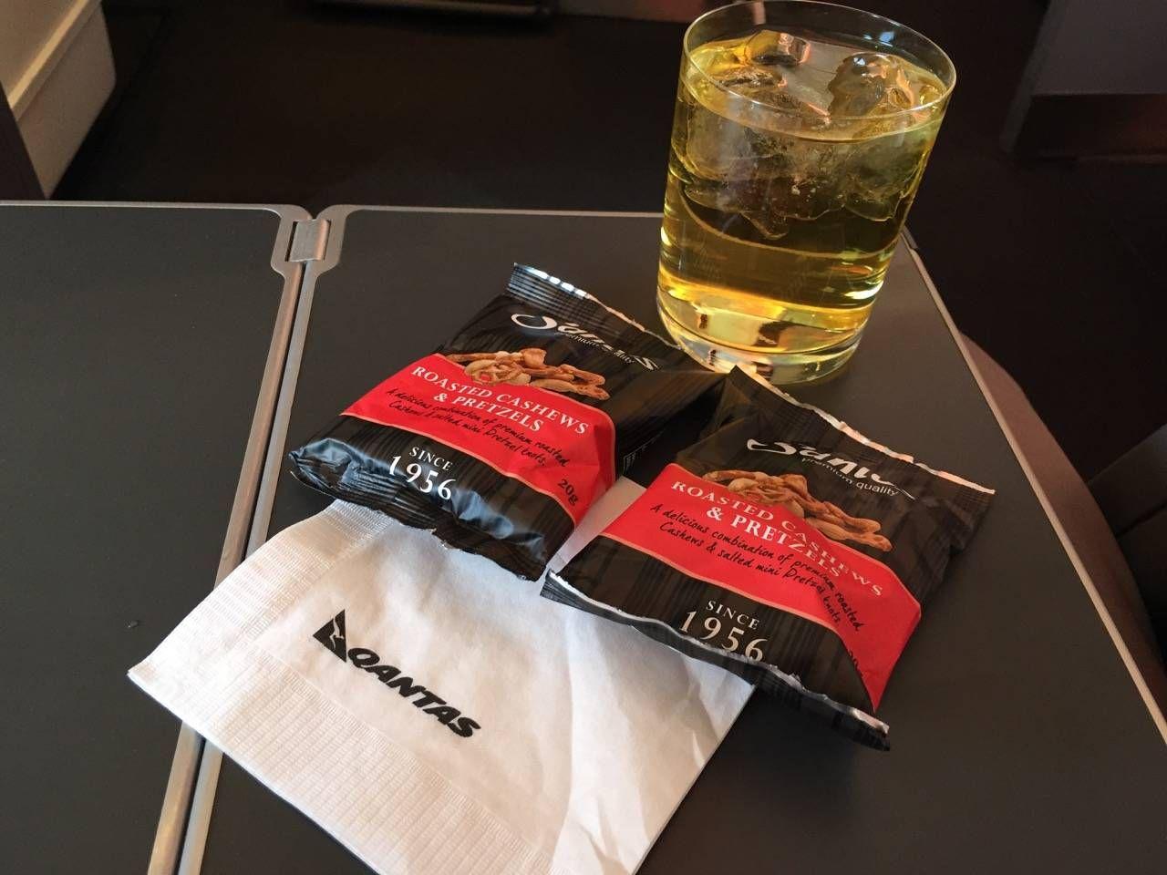Qantas B747 Business Class-027