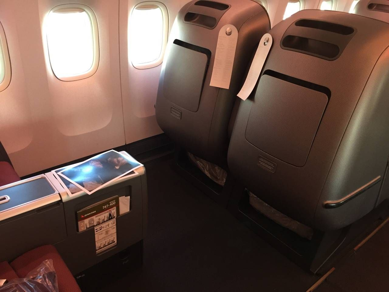 Qantas B747 Business Class-04