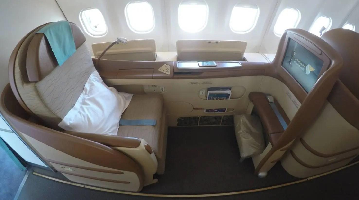 Oman Air A330 - Classe Executiva