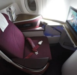 Classe Executiva da Qatar no A350 – Cingapura para Doha