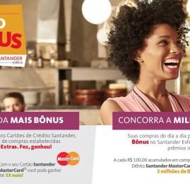 Santander vai pontuar até 6,6 pontos por U$ até Junho e sorteará 3 milhões de pontos