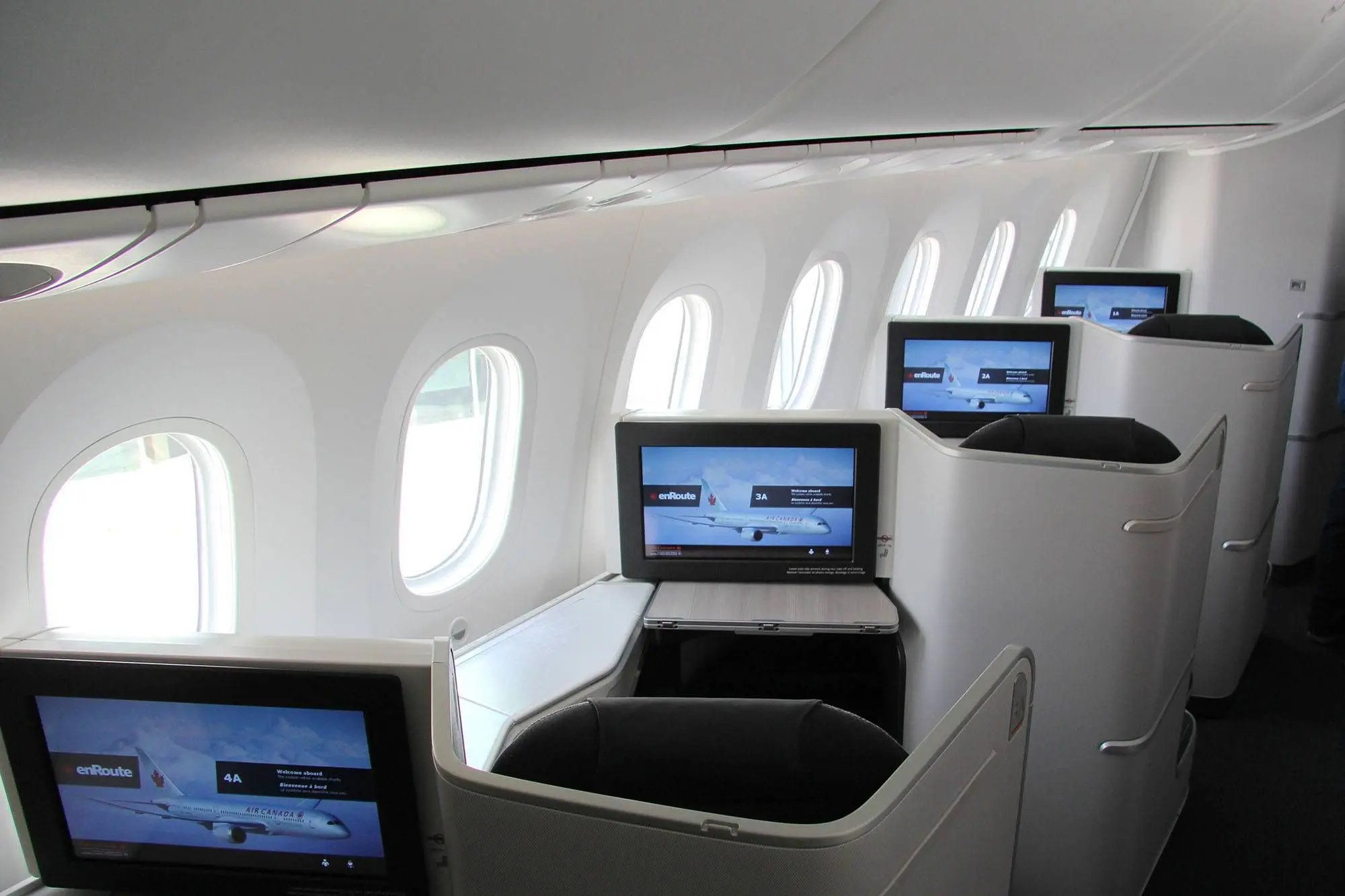 Air Canada's new International Business Class cabin on the 787 Dreamliner. (CNW Group/Air Canada)