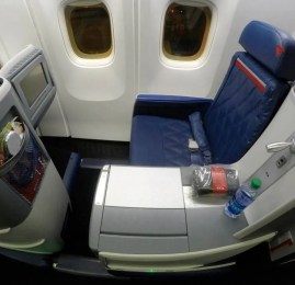 Classe Executiva da Delta no B767-300ER – Orlando para São Paulo