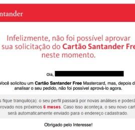 Santander começa a responder as propostas do cartão da American Airlines de forma estranha