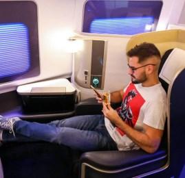 Primeira Classe da British Airways no B747 – Nova York para Londres