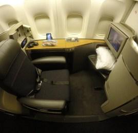 Primeira Classe da American Airlines no B77W – São Paulo para Nova York