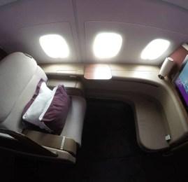 Primeira Classe da Qatar no A380 – Doha para Melbourne
