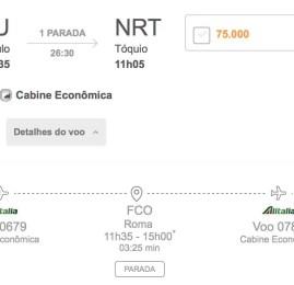 Ampla disponibilidade para emitir passagens com a Alitalia em econômica via Smiles