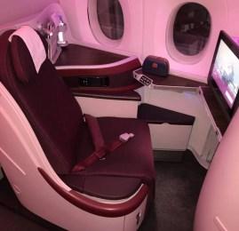 Classe Executiva da Qatar Airways no A350 – Doha para Nova York