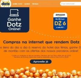 DOTZ está dando 6 pontos a cada real gasto na Amazon Brasil!