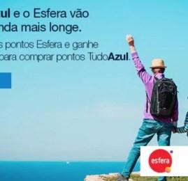 TudoAzul oferece desconto na compra de pontos para clientes que transferirem pontos do Esfera