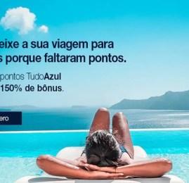 TudoAzul oferece 150% de bônus na compra de pontos para TODOS os participantes!