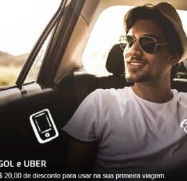GOL vai dar desconto nas corridas de Uber para novos usuários