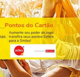 Smiles oferece até 90% de bônus nas transferências do Santander Esfera