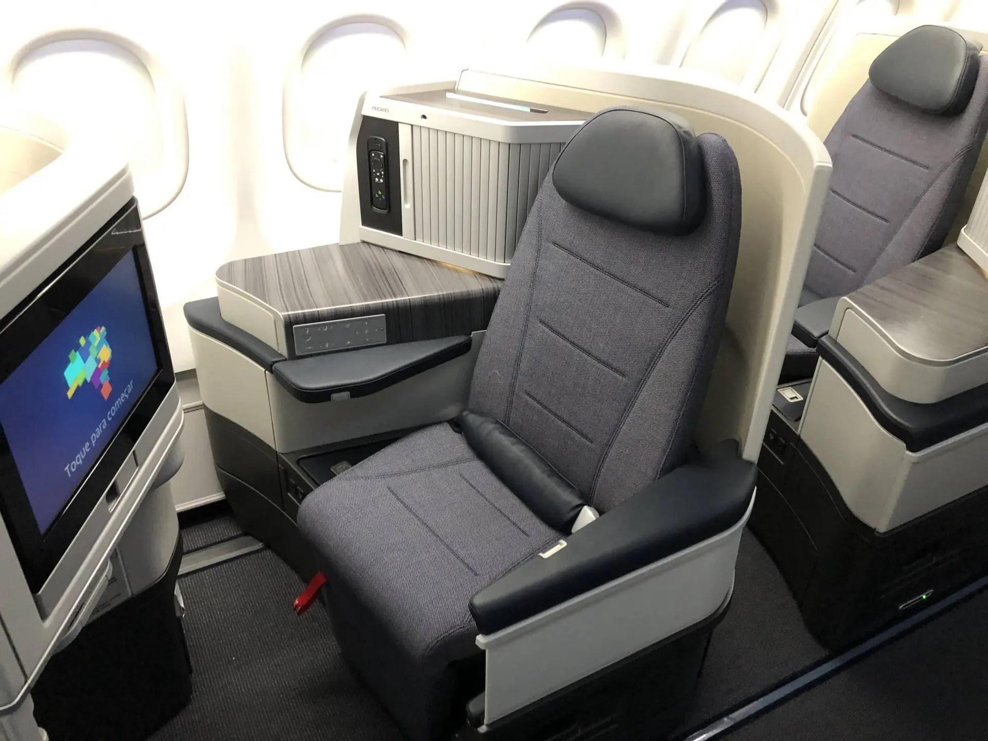 Assento da Executiva no A330neo da Azul