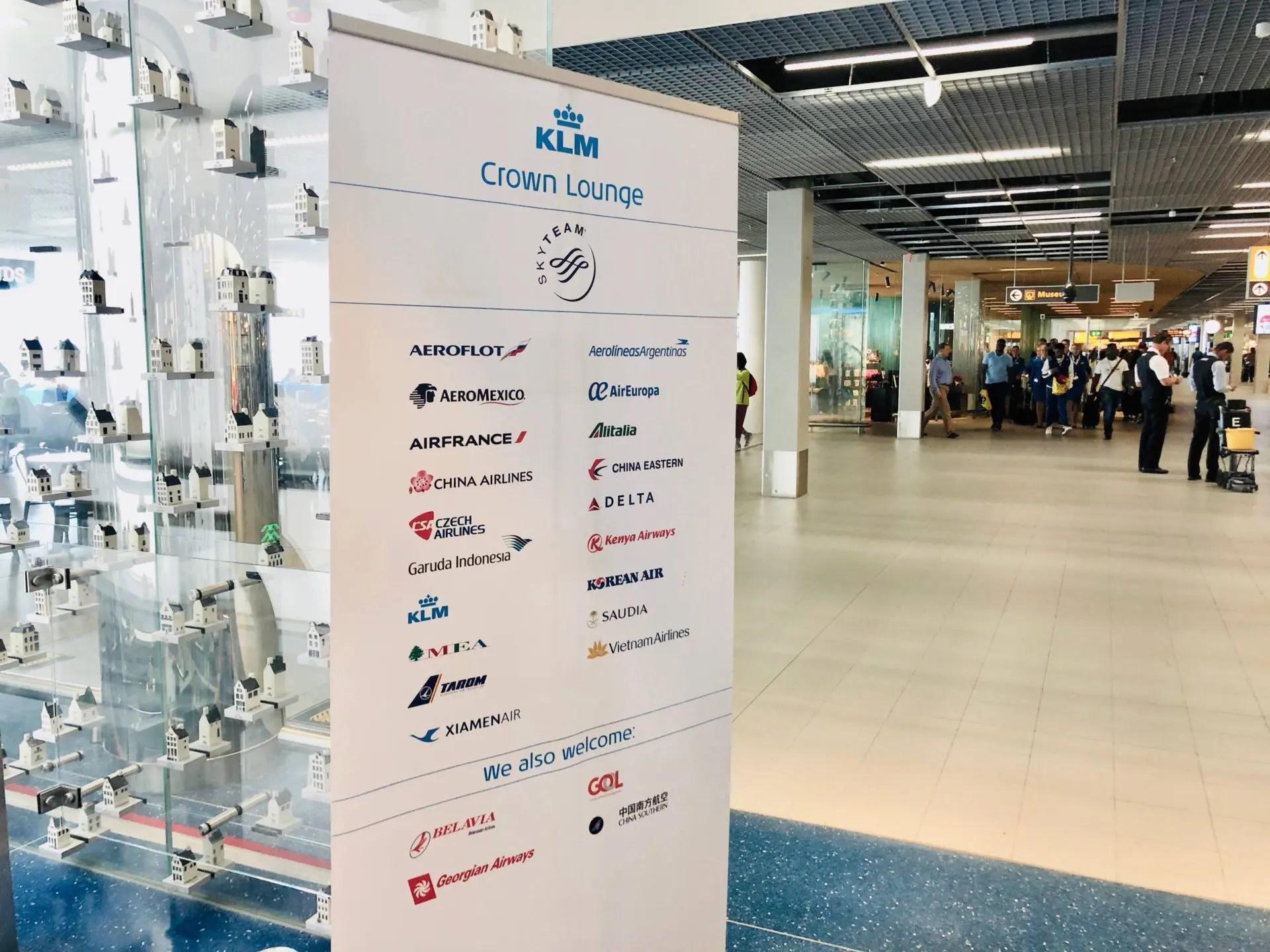 KLM Crown Lounge acesso