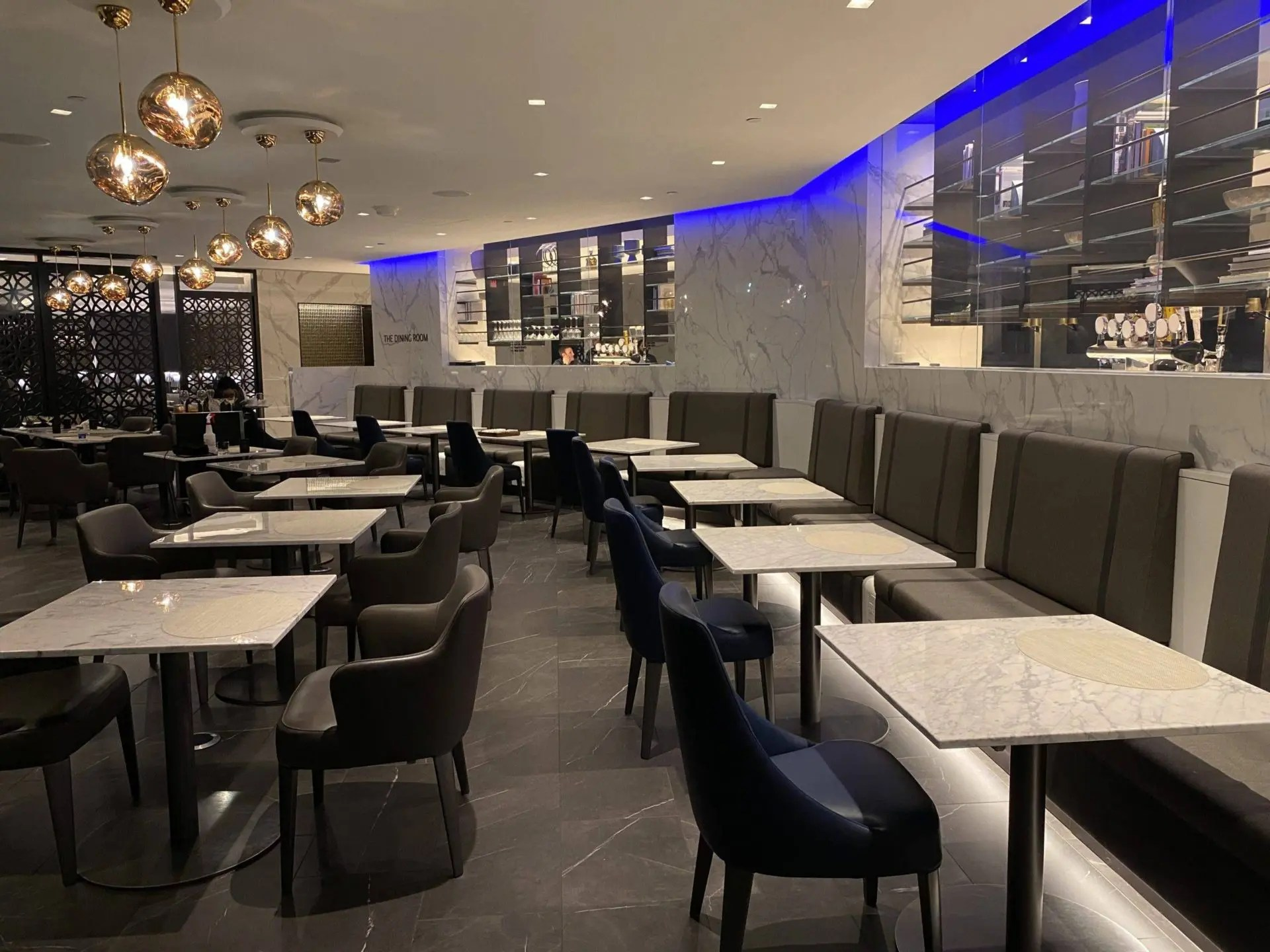 United Polaris Lounge Newark restaurante