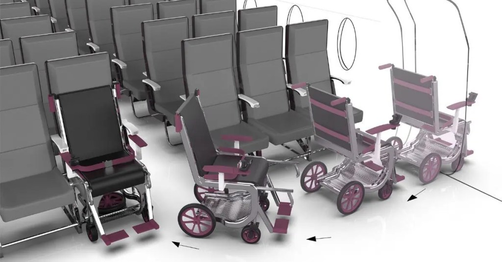 cadeira de rodas aeronave