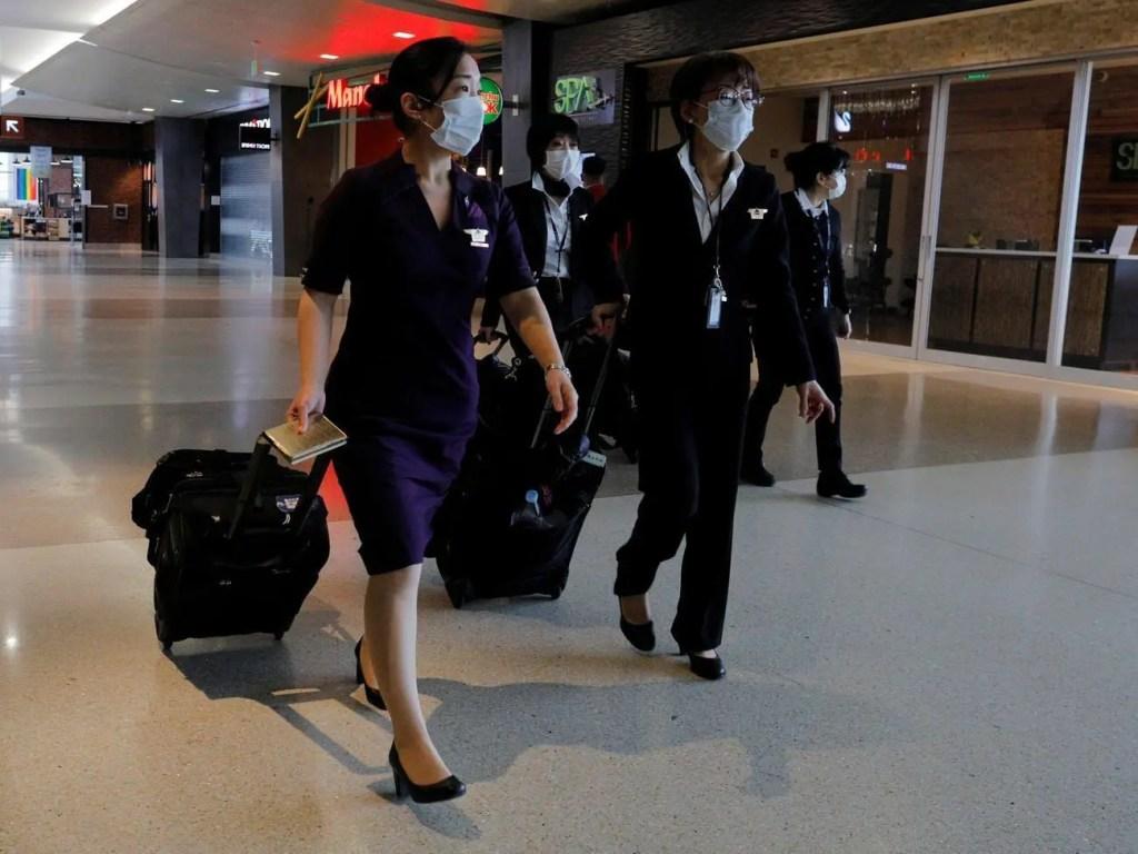 Tripulacao coronavirus aeroportos